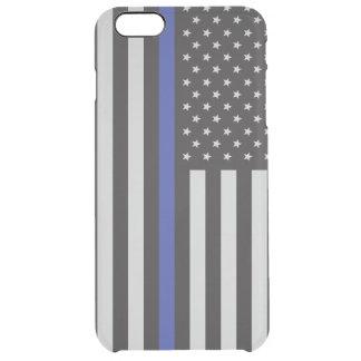 Coque iPhone 6 Plus Soutenez l'Américain mince de Blue Line de police