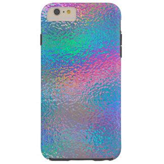 Coque iPhone 6 Plus Tough Aluminium bleu iridescent