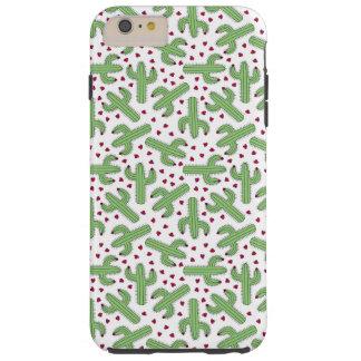Coque iPhone 6 Plus Tough Cactus illustré et motif de fleurs rose
