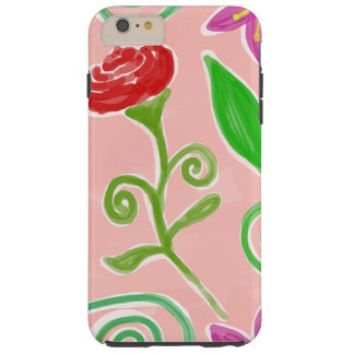 Coque iPhone 6 Plus Tough fleurs colorées mignonnes