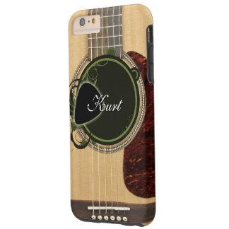 Coque iPhone 6 Plus Tough Guitare acoustique classique avec le nom fait sur