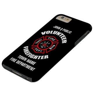 Coque iPhone 6 Plus Tough Modèle volontaire de nom de sapeur-pompier