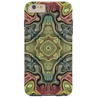 Coque iPhone 6 Plus Tough Motif turquoise jaune ocre rouge de batik de