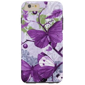 Coque iPhone 6 Plus Tough Papillons pourpres sur une branche