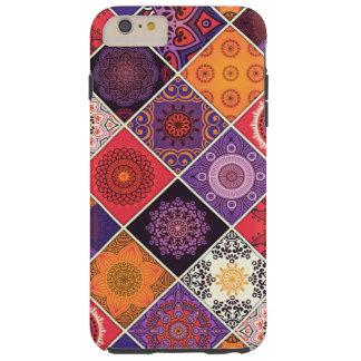 Coque iPhone 6 Plus Tough Patchwork de Bohème coloré de mandala
