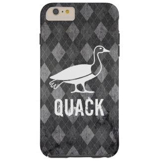 Coque iPhone 6 Plus Tough Pictogramme de canard sur la grunge à motifs de