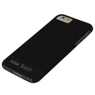 Coque iPhone 6 Plus Tough Polymère noir de graphite de fibre de carbone de