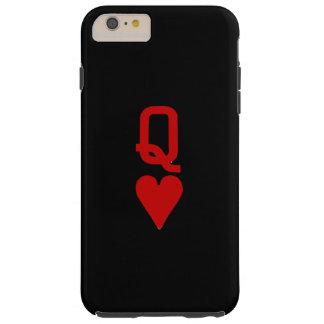 Coque iPhone 6 Plus Tough Reine de l'iPhone 6/6S de coeurs plus le cas dur