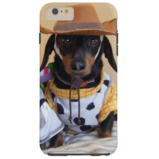 Coque iPhone 6 Plus Tough Teckel drôle - cowboy de chien