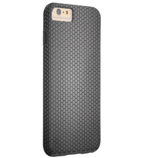 Coque iPhone 6 Plus Tough Texture de fibre de carbone de nid d'abeilles