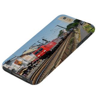 Coque iPhone 6 Plus Tough Train de marchandises dans la maison crue au Rhin