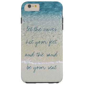 Coque iPhone 6 Plus Tough Vagues inspirées de surf d'océan de bleu de