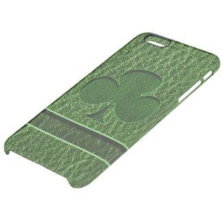 Coque iPhone 6 Plus Trèfle irlandais simili cuir