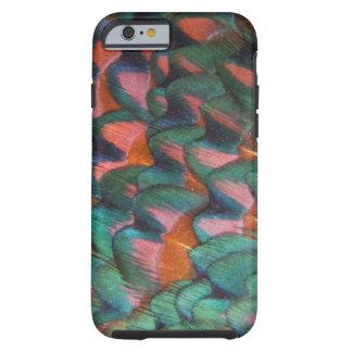 Coque iPhone 6 Tough Abrégé sur coloré plumes de faisan