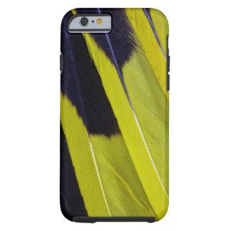 Coque iPhone 6 Tough Abrégé sur jaune et noir plume