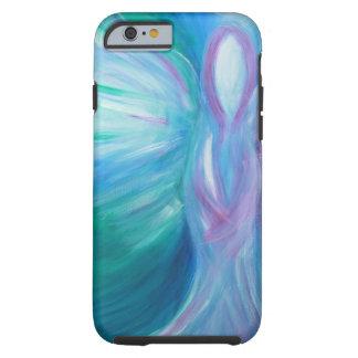 Coque iPhone 6 Tough Art curatif lunatique d'ange bleu