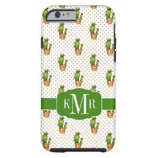 Coque iPhone 6 Tough Cactus et motif de point succulent de Polk