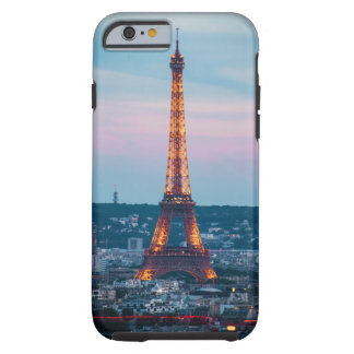 Coque iPhone 6 Tough caisse de Tour Eiffel d'iPhone (4,5,6,7,8)