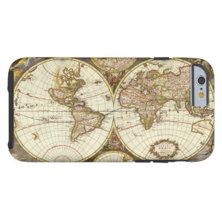 Coque iPhone 6 Tough Carte antique du monde, C. 1680. Par Frederick de