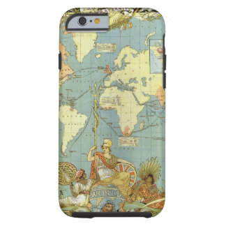 Coque iPhone 6 Tough Carte antique du monde de l'Empire Britannique,