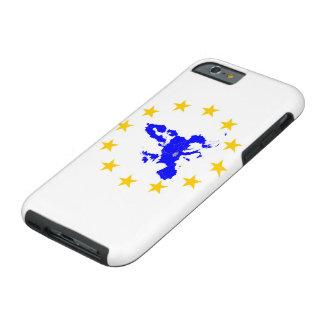 Coque iPhone 6 Tough Carte de l'Union européenne avec le milieu