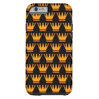 Coque iPhone 6 Tough Cas de noir d'or de couronne de la Reine