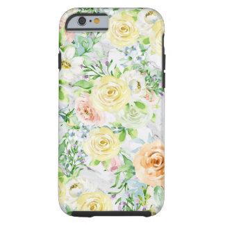 Coque iPhone 6 Tough Cas dur à la mode fort de l'iPhone 6/6s de fleur