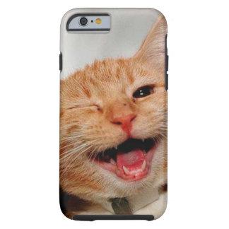 Coque iPhone 6 Tough Chat clignant de l'oeil - chat orange - les chats