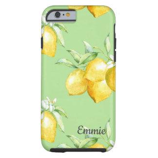 Coque iPhone 6 Tough Citrons jaunes sur vert clair
