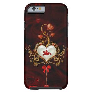 Coque iPhone 6 Tough Coeur merveilleux avec la colombe