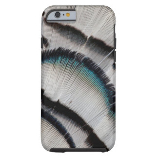 Coque iPhone 6 Tough Conception argentée de plume de faisan