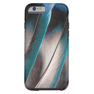 Coque iPhone 6 Tough Conception bleue de plume d'inséparable