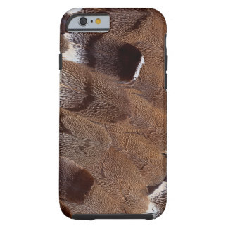 Coque iPhone 6 Tough Conception de plume de Brown