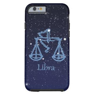 Coque iPhone 6 Tough Constellation de Balance et signe de zodiaque avec