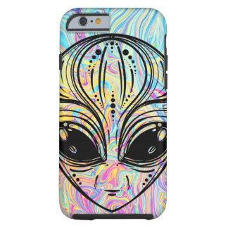 Coque iPhone 6 Tough Cool étranger psychédélique de hippie de colorant