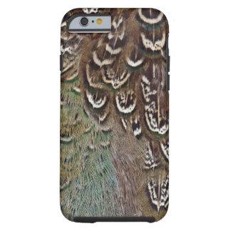 Coque iPhone 6 Tough Détail de plume de faisan de Melanistic