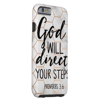 Coque iPhone 6 Tough Dieu dirigera votre amour de citations de vers de
