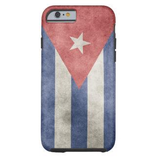Coque iPhone 6 Tough Drapeau de grunge du Cuba