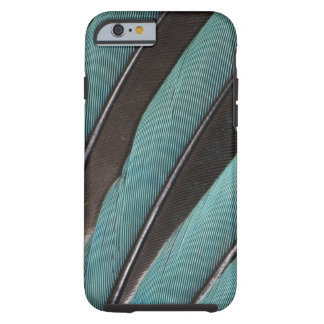 Coque iPhone 6 Tough Éventée conception bleue de plume