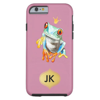 Coque iPhone 6 Tough Grenouille verte et jaune par espièglerie adorable