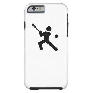 Coque iPhone 6 Tough Icône fraîche de sport du BASE-BALL |