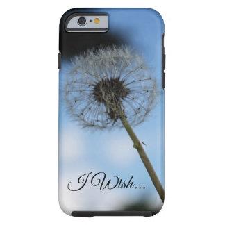 """Coque iPhone 6 Tough """"Je souhaite"""" le cas de téléphone"""