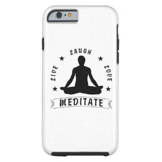 Coque iPhone 6 Tough L'amour vivant de rire méditent le texte masculin