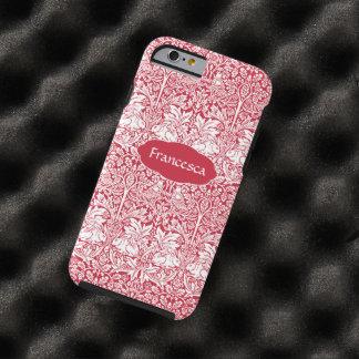 Coque iPhone 6 Tough Le motif rouge Morris de lapin a personnalisé le