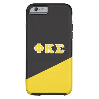 Coque iPhone 6 Tough Lettres de Grec du sigma   de Kappa de phi