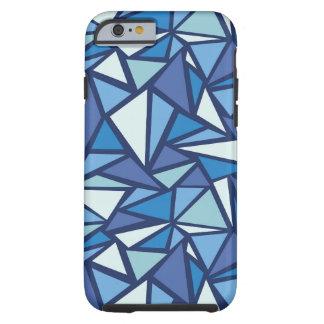 Coque iPhone 6 Tough Motif bleu abstrait de Crsytal de glace