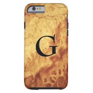 Coque iPhone 6 Tough Motif de gemme, oeil de tigre d'or et onyx de noir