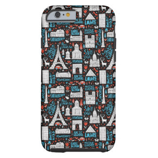 Coque iPhone 6 Tough Motif de symboles de la France |