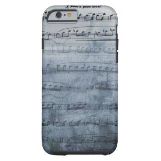 Coque iPhone 6 Tough Musique de feuille grise