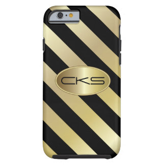 Coque iPhone 6 Tough Noir et couleur du monogramme   do-it-yourself des